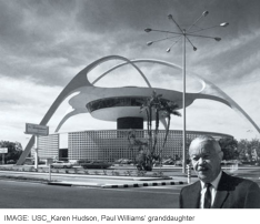 Paul Williams at the LAX Theme Building